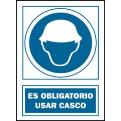 Señal uso casco obligatorio pvc 131 oba-cat