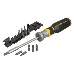 Juego destornillador carraca stanley multipuntas con led 12 bits