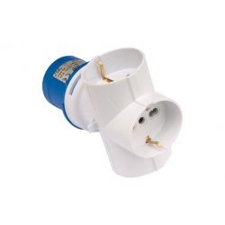 Adaptador industrial ip44 2p+t 3base 2