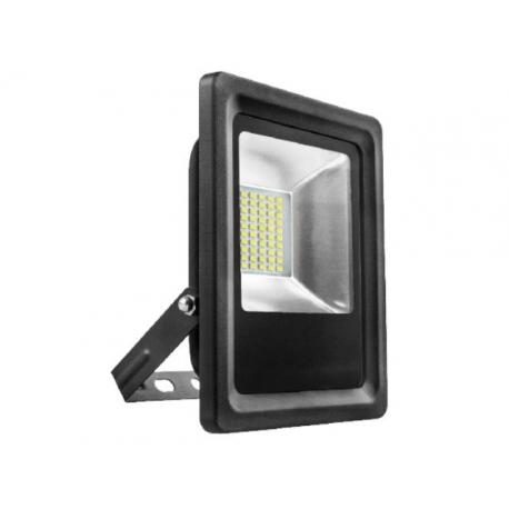 Proyector led plano matel plata 10w luz fria 6400 k 1000 lumens