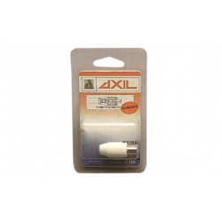 Conector recto blindado blanco axil mp-612e