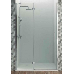 Mampara de ducha gme 90 cm glass combi d frontal abatible - 25+65 perfil