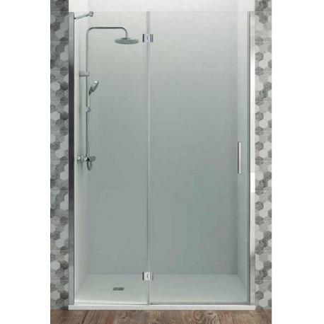 Mampara de ducha gme 70 cm glass combi c frontal abatible (20+50)