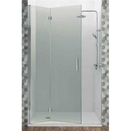 Mampara de ducha gme 70 cm glass combi d frontal abatible (20+50) perfil