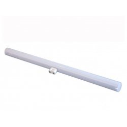 Linestra led matel 1 polo 8w luz calida aluminio pvc
