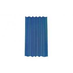 Cortina de baño poliester intense azul