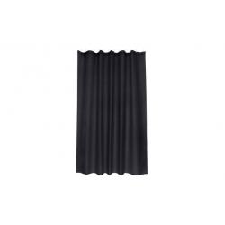Cortina de baño poliester intense negro