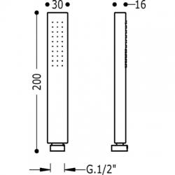 Kit ducha termostatico class tres empotrado rociador techo cromado 20635204