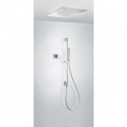 Kit termostatico ducha electronico tres exclusive shower technology cromo 092.865.84