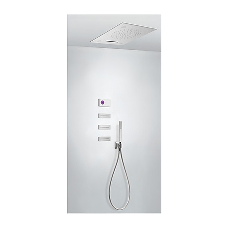 Kit termostatico ducha electronico tres exclusive shower technology cromo 092.864.05