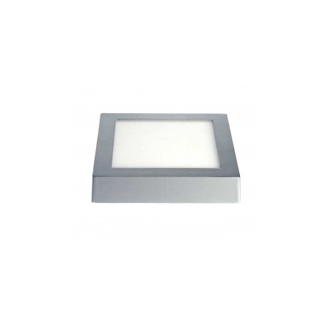Downlight led matel superficie cuadrado plata 18 w - 1800 lumenes