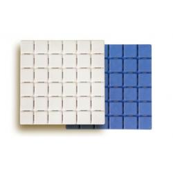 Antideslizante bañera h2o quadro blanca y azul 6u