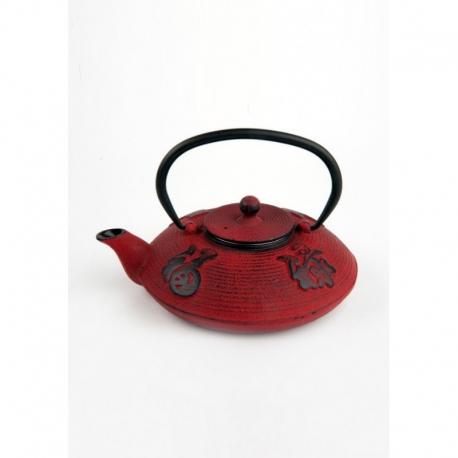 Tetera de hierro colado oriental roja 0.80