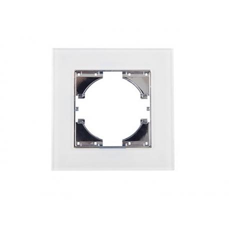 Marco 2 elementos cristal onlex blanca