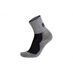 Calcetin runner corto gris