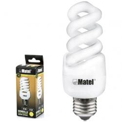 Bombilla bajo consumo e-14 15w 800 lumenes matel luz calida