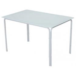 Mesa hierro cristal gris 117 x 77 x 72 cm
