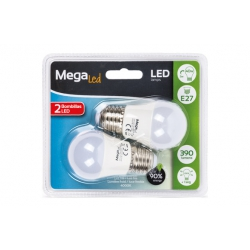 Lampara led mini esferica megaled 5w e27 4000k 2u