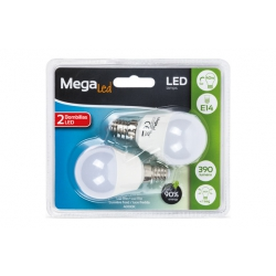 Lampara led mini esferica megaled 5w e-14 4000k 2u