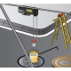 Polipasto electrico 125 kg 560 w ep560