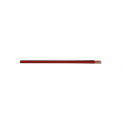 Cable audio rojo - negro 2x0,75