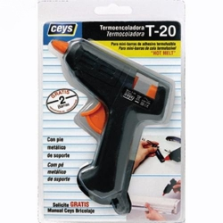 Pistola termofusible ceys t-20 mini