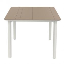 Mesa noa 90x90 cm arena blanco
