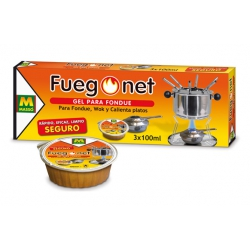 Gel para fondue fuego net masso 3 x 100 ml