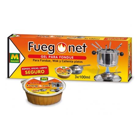 Gel para fondue fuego net