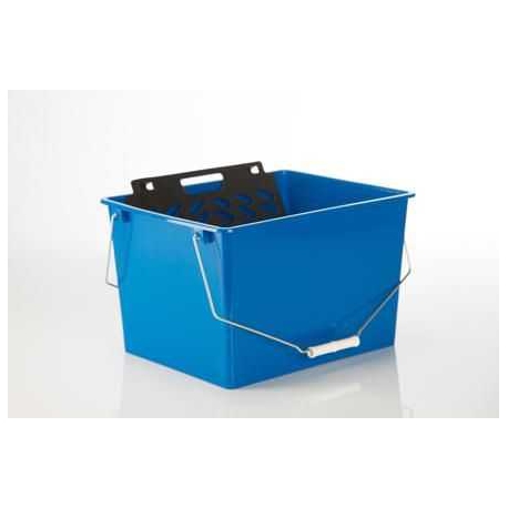 Cubeta pintor 16 l con rejilla azul