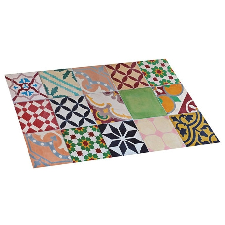 Alfombra vinilica 45 x75 mosaico color