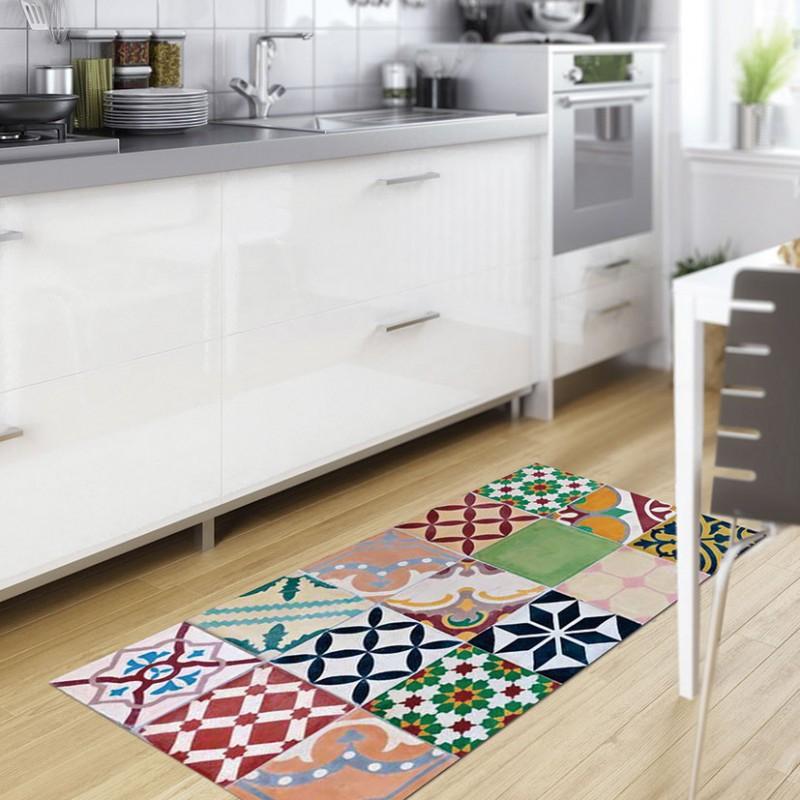 Alfombra vinilica 45x75 mosaico color Precio. Las Mejores ...