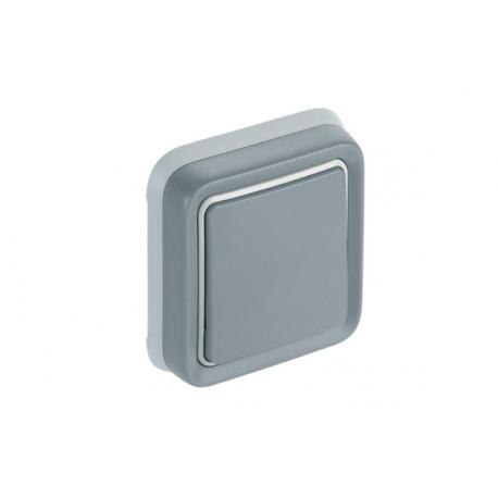 Conmutador empotrar gris ip55