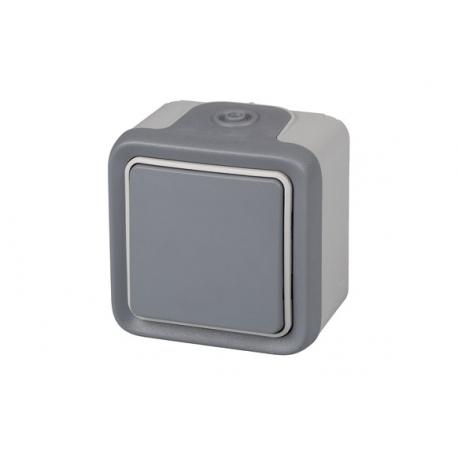 Pulsador superficie gris ip56