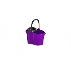 Cubo con escurridor maya 15 litros - lila