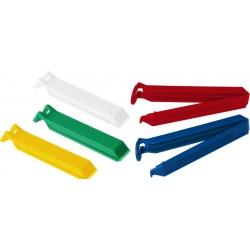 Cierra bolsas 11 cm 5 unidades