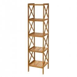 Estanteria 5 baldas bambu 33 x 36.5 x 153 cm