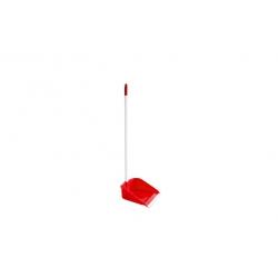 Recogedor con goma y palo rojo