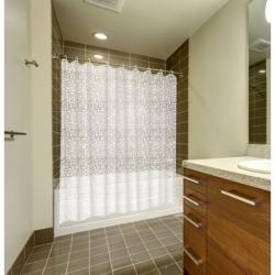 Cortina baño caldea pvc 180 x 200 tranparente