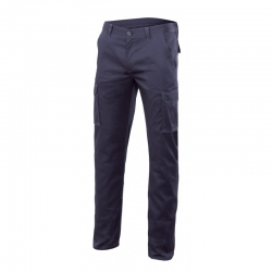 Pantalon multibolsillos stretch azul t52