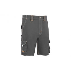 Pantalon corto stretch triple costura gris t-52