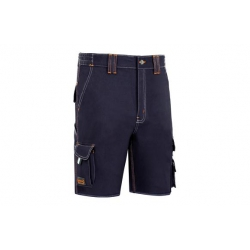 Pantalon corto stretch triple costura azul t-52
