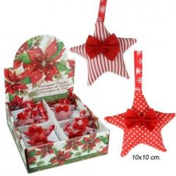 Colgante Navidad estrella tejido