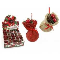 Colgante navidad saco regalo 2 modelos
