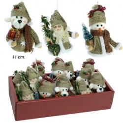 Colgante navidad muñeco saco