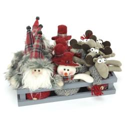 Colgante navidad figura tejido 3 modelos