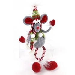 Figura navidad raton tejido 47 cm