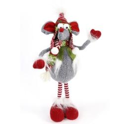 Figura navidad raton tejido 40 cm