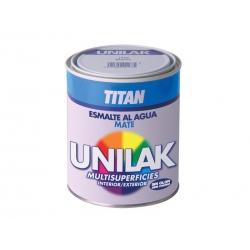 Esmalte al agua unilak titan mate negro 750 ml