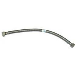 Conexion flexible acero inox macho 1/2 - hembra 3/8 - 30 cm
